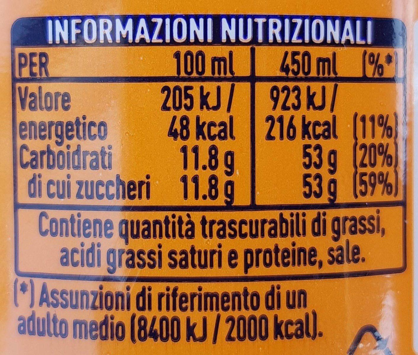 Fanta - Nutrition facts - fr