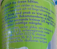 Red Bull The Green Edition - Ingredients