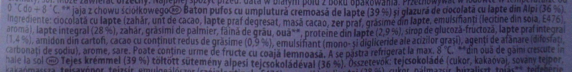 Milka Choco Snack - Ingrédients