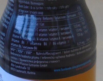 Pfanner portocale - Informazioni nutrizionali - ro