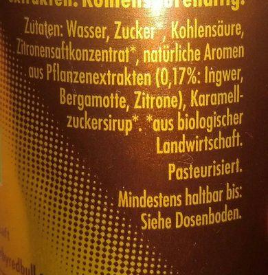 Organics Ginger ale - Ingrediënten - fr