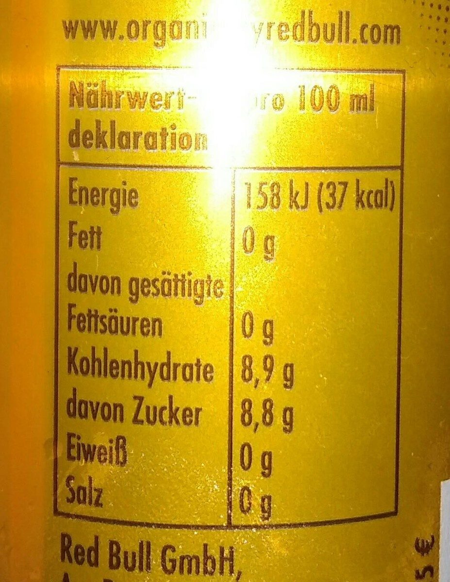 Organics Ginger ale - Voedingswaarden - fr