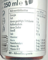 Energy Drink mit dem Geschmack von Kokos Blaubeery - Wartości odżywcze