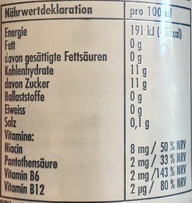 Redbull White Edition - Valori nutrizionali - de