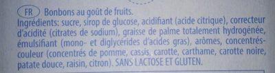 Pez - Ingredients - fr
