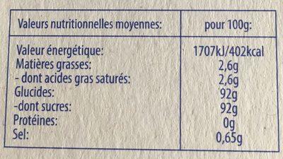 Pez - Nutrition facts - fr