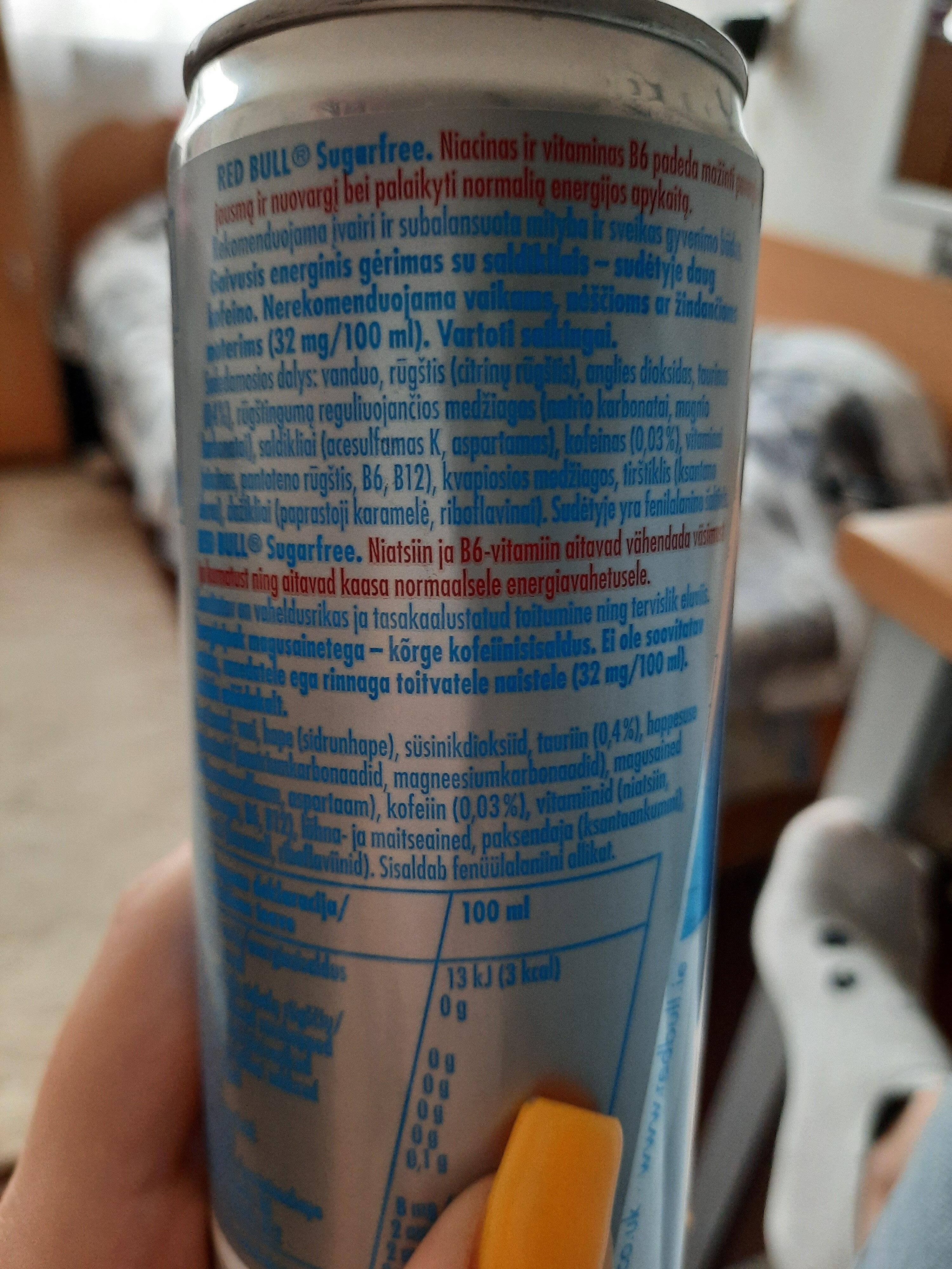 Energetinis - Ingredients - lt