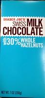 Swiss Milk Chocolate with 30% whole hazelnuts - Product
