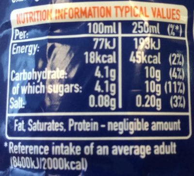 Citrus Punch - Nutrition facts