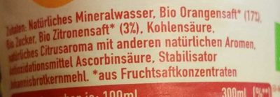 ViO Bio Limo Orange - Ingrediënten - de
