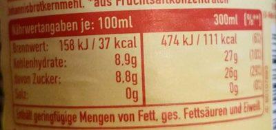 ViO Bio Limo Orange - Voedingswaarden - de