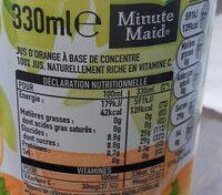 Minute Maid Orange - Voedingswaarden - fr