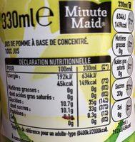 Minute Maid Pomme - Voedingswaarden