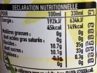Minute Maid Pomme - Voedingswaarden - fr