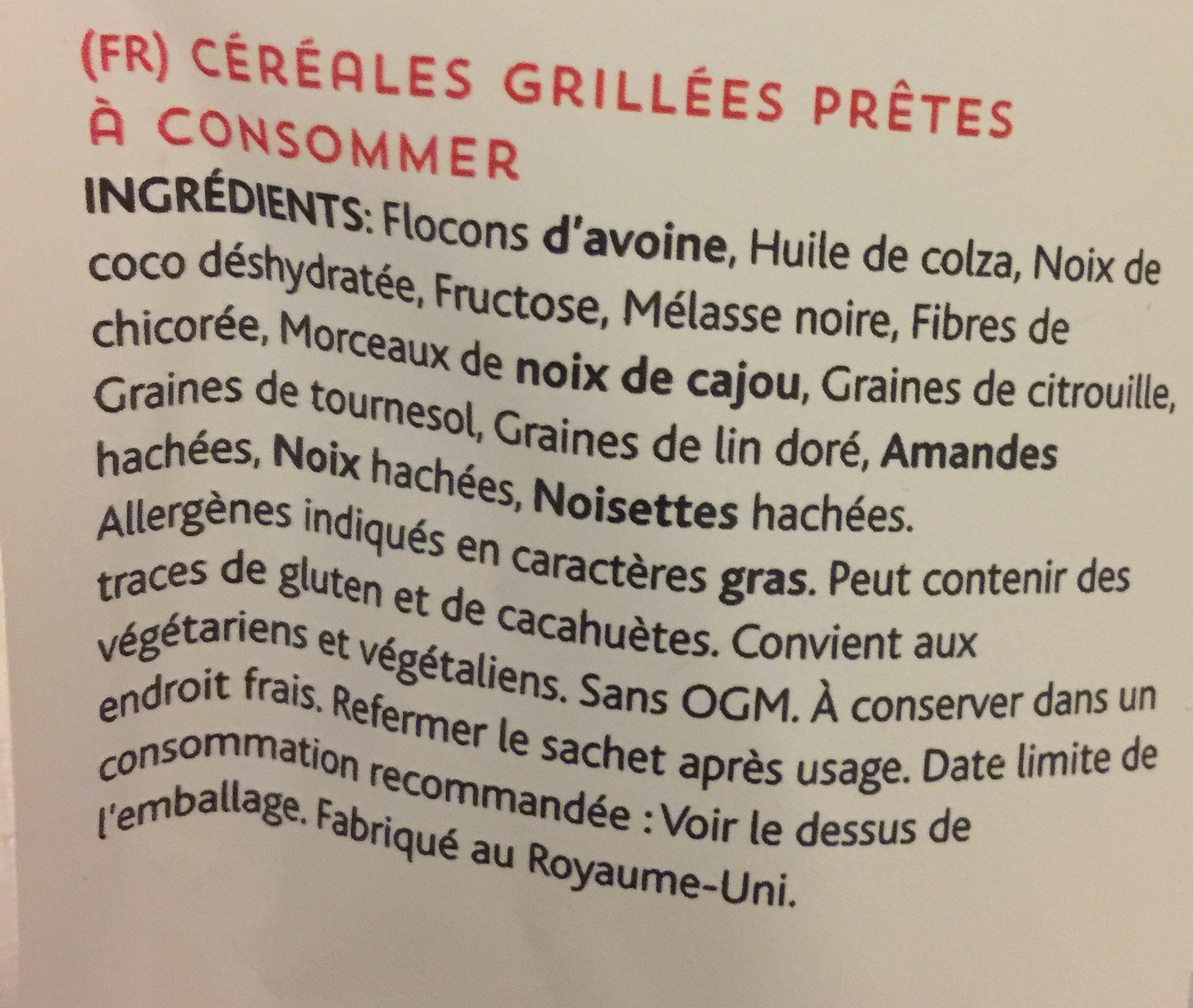 Lizi's granola - Ingredients