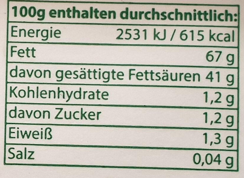 Streichgenuss - Informations nutritionnelles - de