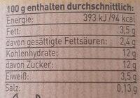 Bergbauern Joghurt Vanille - Nutrition facts - de
