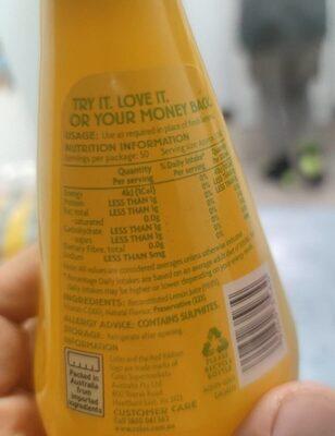 lemon juice - Nutrition facts - en
