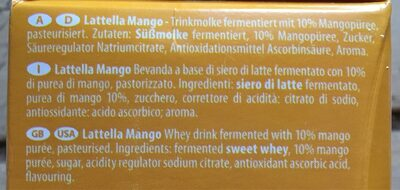 Latella mangue - Ingrédients - fr