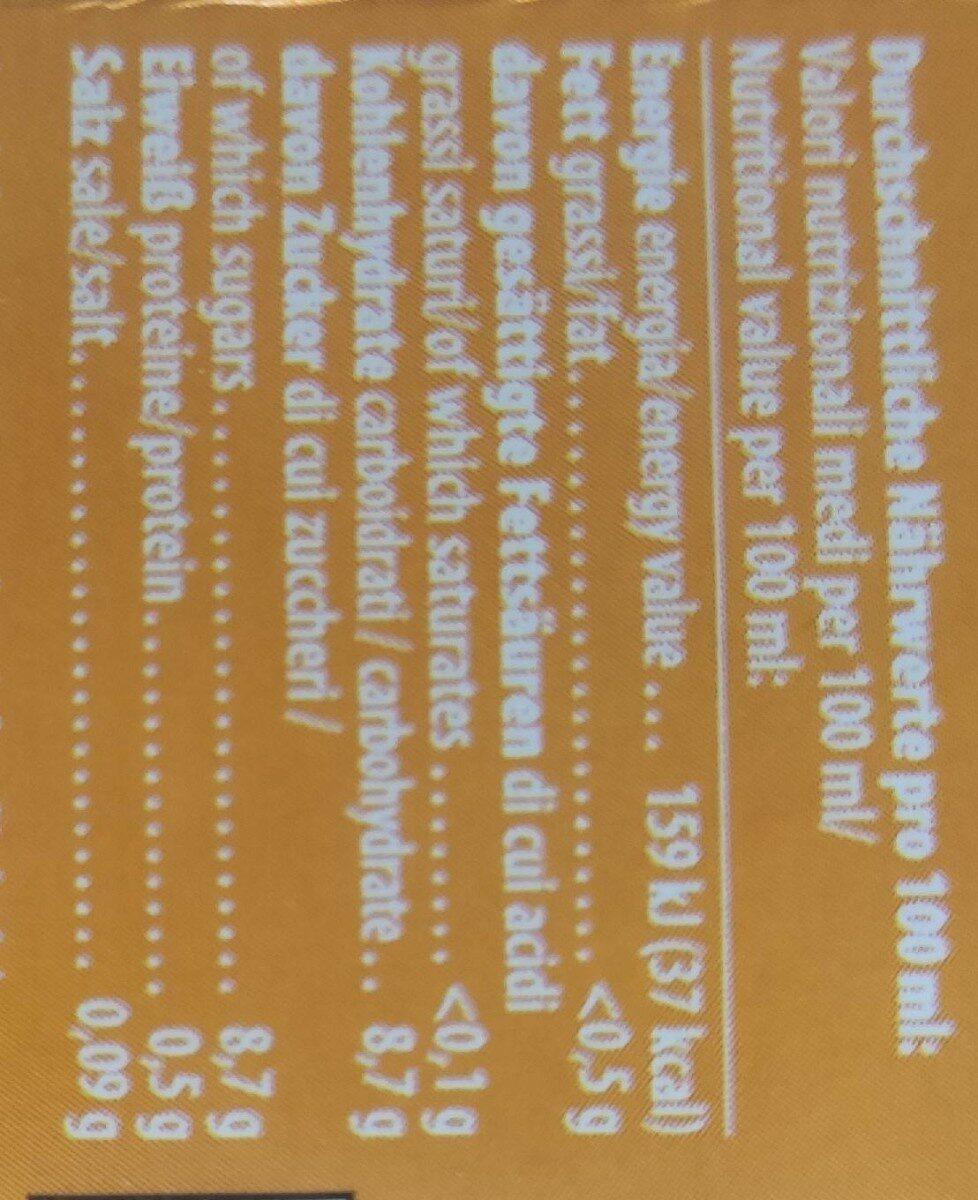 Latella mangue - Informations nutritionnelles - de