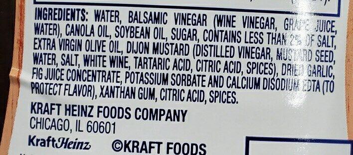 kraft aged balsamic vinaigrette - Ingredients - en