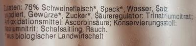Bio-Frankfurter geräuchert - Ingrédients