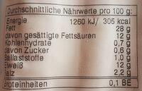 Bio-Frankfurter geräuchert - Informations nutritionnelles