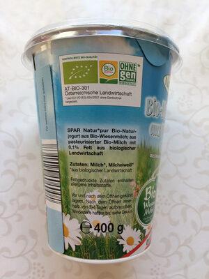 Bio-Naturjogurt aus Wiesenmilch - Ingredients - de