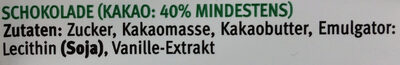 Back- & Kochschokolade - Ingredients - de