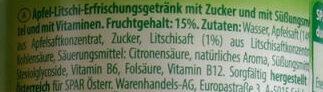 Apfel Litschi gespritzt - Ingredients