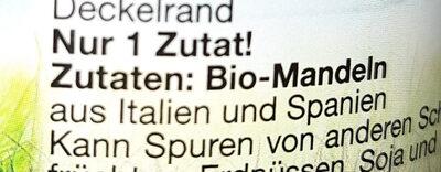 Bio Mandel Mus braun - Ingredients - de