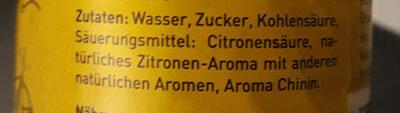 Tonic Water - Ingrédients - de