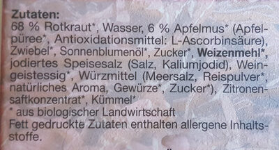 Bio-Rotkraut - Ingrédients - de