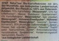 4 Bio-Wurstknödel - Ingrédients - de