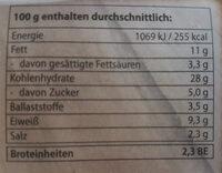 4 Bio-Wurstknödel - Informations nutritionnelles - de