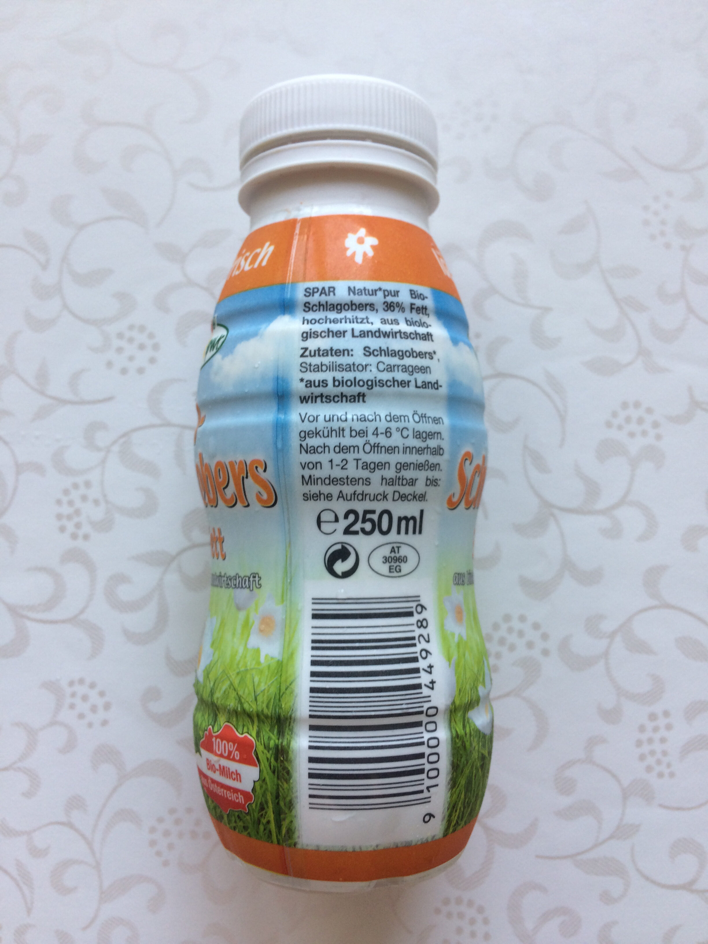 Bio-Schlagobers 36% Fett - Ingredients - de
