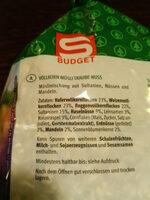 Vollkorn Müsli Traube Nuss - Ingredients - de