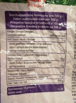 Vollkorn Müsli Traube Nuss - Nutrition facts - de