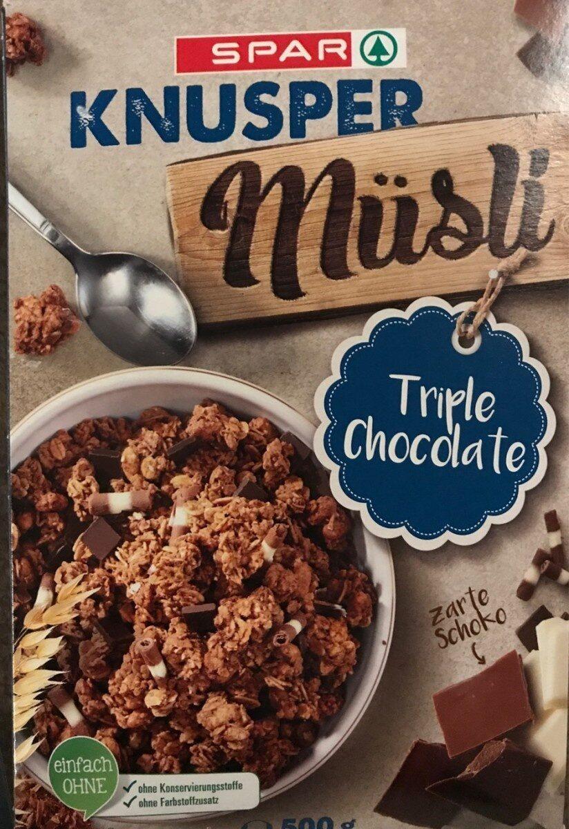 Knusper Müsli Triple Chocolate - Produkt - de