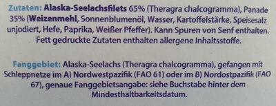 Fischstäbchen - Ingrédients