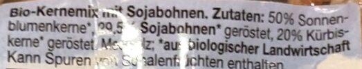 Bio-kernmix mit Bio-sojabohnen - Ingredients - de