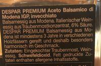 Vinaigre de basalmique - Ingredienti - fr