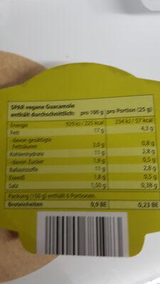 Vegane Guacamole  Avocado Dip - Voedingswaarden - de