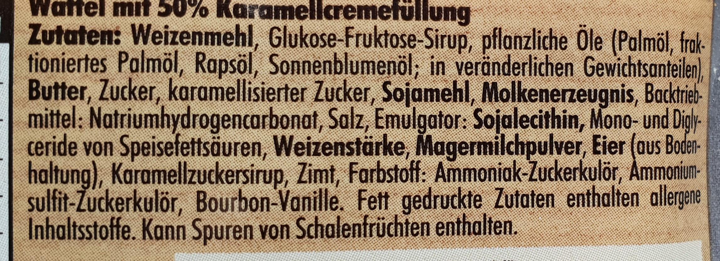 enjoy Karamell-Waffeln - Ingrédients