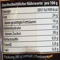 enjoy Karamell-Waffeln - Informations nutritionnelles