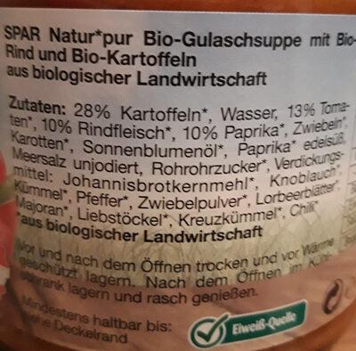 Bio-Gulaschsuppe - Ingrédients - de