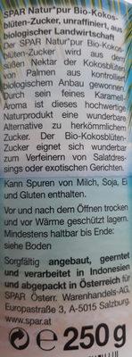 Bio-Kokosblüten-Zucker - Ingrédients