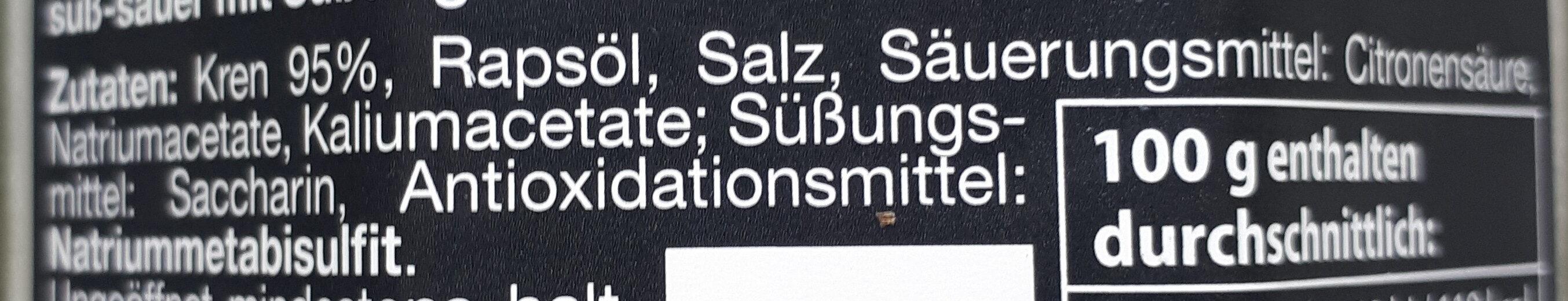 Kren nach Wiener Art - Ingrédients - de