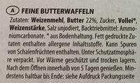 Butter waffeln - Ingrédients - de
