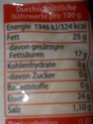 Österreichischer Gouda - Informations nutritionnelles - de